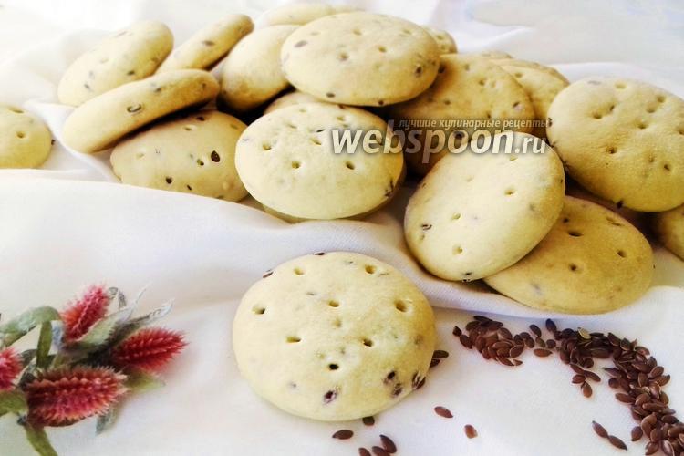 Фото Хрустящее печенье с семенами льна