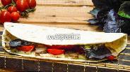 Фото рецепта Тортилья с мясом и овощами