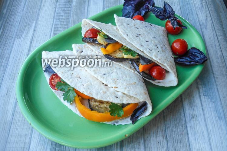 Фото Тортилья с овощами