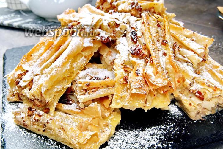 Фото Греческий яблочный пирог «Плиссе». Видео