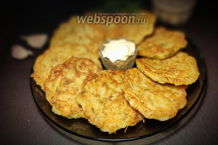 Фото Драники из кабачка и картофеля