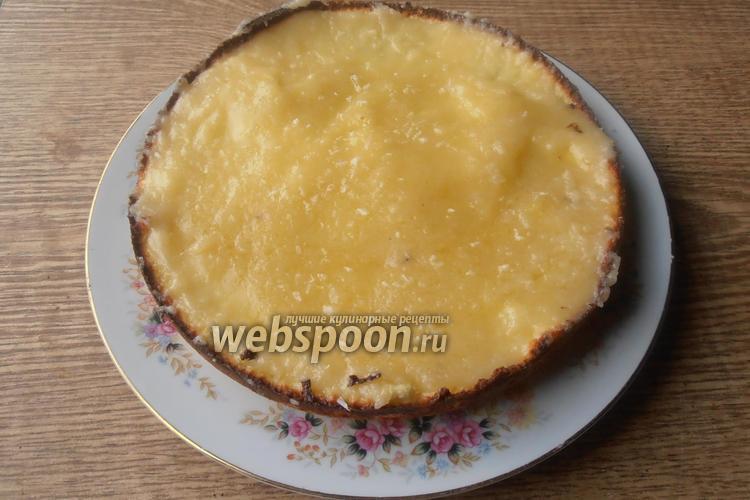 Фото Кокосовый пирог к карамелью из кокосового молока