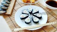 Фото рецепта 2 вида суши из овощей с крабовыми палочками