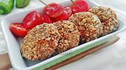Фото рецепта Котлеты из баклажанов в ореховой панировке