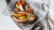 Фото рецепта Сазан на овощной подушке