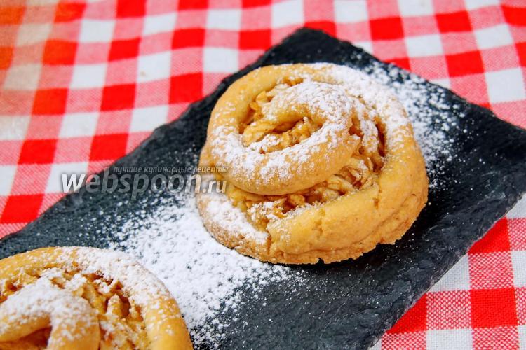 Фото Новое печенье с яблочной начинкой. Видео