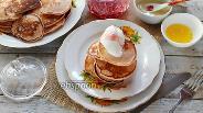 Фото рецепта Гречневые панкейки из сметанно-кефирного теста