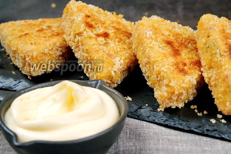 Фото Картофельные треугольники с сыром и творогом. Видео