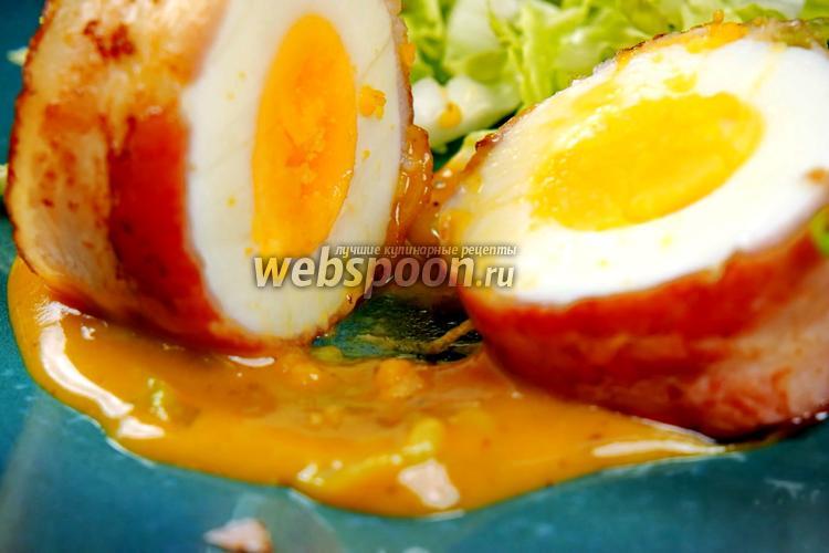 Фото Потрясающий завтрак из яиц и бекона. Видео