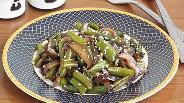 Фото рецепта Баклажаны со стручковой фасолью по-восточному