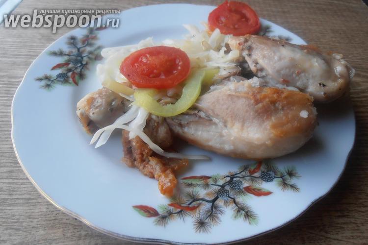 Фото Жареная курица с овощами стир фрай