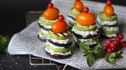 Фото рецепта Канапе из баклажанов и кабачков