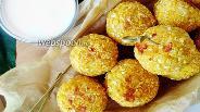 Фото рецепта  Шарики из кукурузной каши с сыром