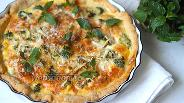 Фото рецепта Открытый пирог с пармезаном, слабо-солёной сёмгой и брокколи