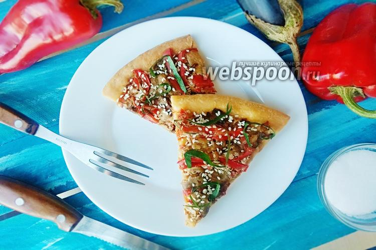 Фото Пицца с овощной начинкой