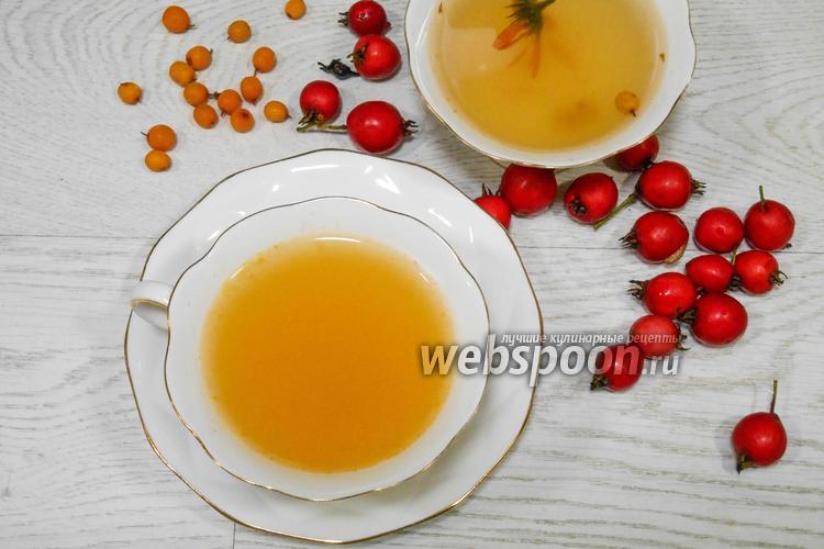 Фото Чай с календулой и облепихой