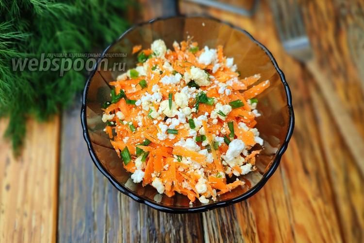 Фото Морковный салат с творогом и зеленью