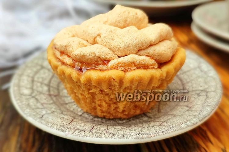 Фото Корзиночки с яблочной начинкой и меренгой