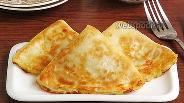 Фото рецепта Блинчики с картофелем, творогом и жареным луком