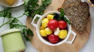 Фото рецепта Маринованные патиссоны с помидорами черри на зиму